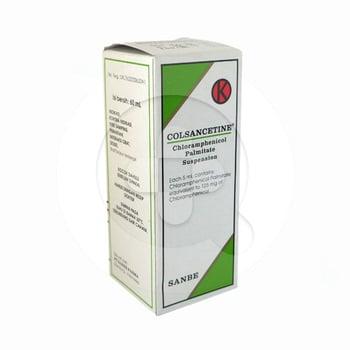 Colsancetine suspensi 60 ml adalah obat yang digunakan sebagai pilihan utama pengobatan tifus dan paratifus.