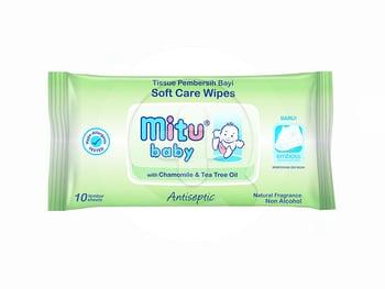 Mitu Baby Wipes Travel Pack With Chamomile & Tea Tree Oil  harga terbaik 6824