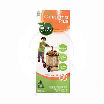 Curcuma Plus Fruit & Veggie Rasa Jeruk Sirup 100 mL harga terbaik 24520