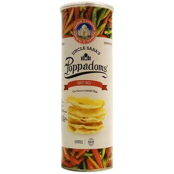 Lentil Uncle Saba's Poppadoms Keripik Kacang - Sweet Chilli 70 g harga terbaik 48600