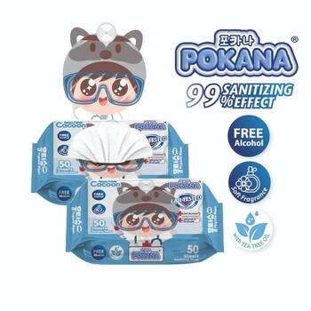 Pokana Sanitizing Wipes - Fragrance  harga terbaik 16000