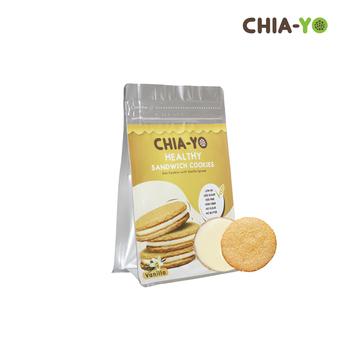 Chia-Yo Sandwich Cookies Vanilla 104 gr harga terbaik 25000