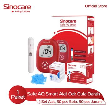 Sinocare Paket Safe AQ Smart Kits - Alat Cek Gula Darah harga terbaik 150000