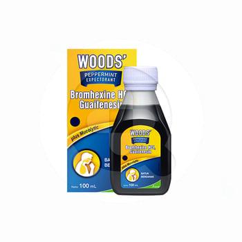 Woods Peppermint Expectorant Sirup 100 ml harga terbaik 27812
