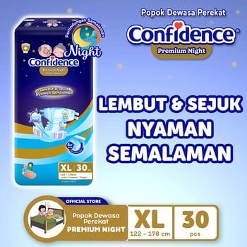 Confidence Popok Dewasa Premium Night XL 30 harga terbaik