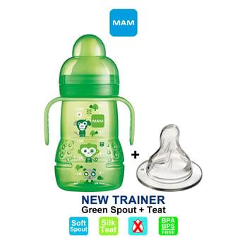 MAM Trainer Cup Spout Plus Teat 220 ml - Green harga terbaik 108987