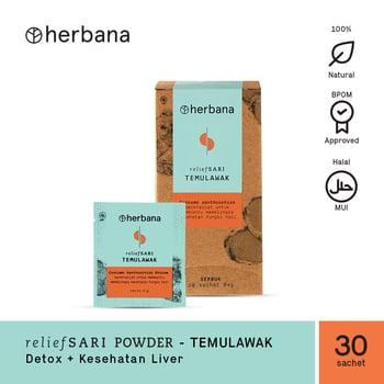 Herbana Relief Sari Powder Temulawak - 30 Sachet harga terbaik 125000