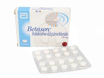 Betaserc Tablet adalah obat yang mengandung betahistine mesilate 24 mg.