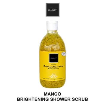 Scarlett Shower Scrub Mango Original Sabun 300 g harga terbaik 55000