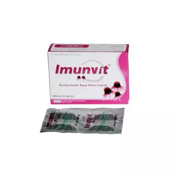 Imunvit kaplet adalah suplemen yang digunakan untuk memelihara daya tahan tubuh