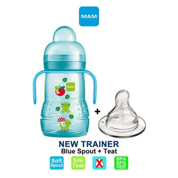 MAM Trainer Cup Spout Plus Teat 220 ml - Blue harga terbaik 108987