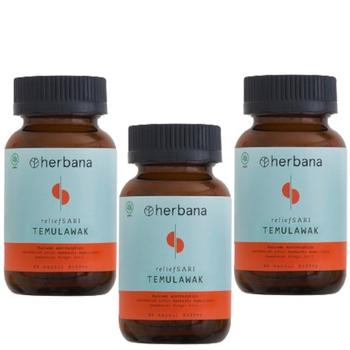Herbana Relief Sari Temu Lawak - 60 Kapsul  harga terbaik 555000