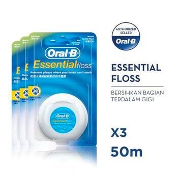 Oral-B Benang Gigi Essential Floss 50 M - Paket isi 3 harga terbaik 112200