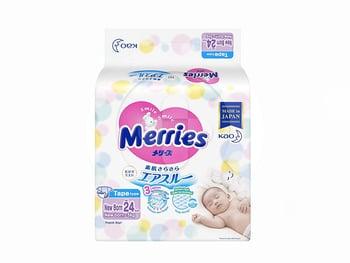 MERRIES Baby Diapers New Born 24'S popok bayi baru lahir