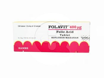 Folavit Tablet 400 mcg  harga terbaik 110092