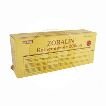 Zoralin tablet 200 mg adalah obat yang digunakan untuk pengobatan infeksi jamur pada kulit, rambut dan mukosa yang disebabkan oleh ragi.