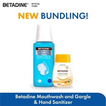 BETADINE Mouthwash and Gargle 100 mL & BETADINE Hand Sanitizer Manuka Honey 50 mL harga terbaik 55500
