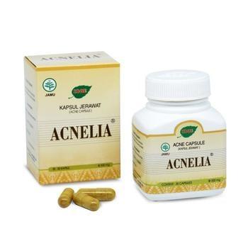 Jamu IBOE - 1 Botol Acnelia Herbal Supplement 30 Kapsul harga terbaik 45000