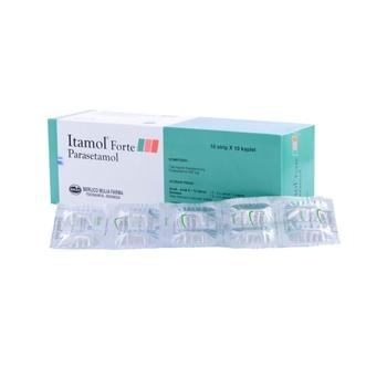 Itamol Forte kaplet berguna untuk menurunkan panas dengan cepat dan mengurangi nyeri