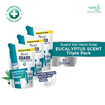 Biore Guard Gel Hand Soap Eucalyptus Scent Pouch 200 ml - Triple Pack harga terbaik 43500
