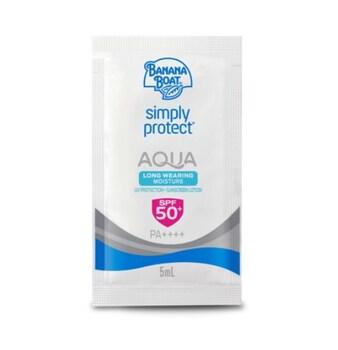 Banana Boat Simply Protect Aqua Long Wearing Moisture Sunscreen Lotion SPF50+ Sachet 5 ml harga terbaik 15400