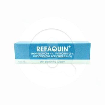 Refaquin krim 15 g untuk pengobatan jangka pendek pada wajah seperti chloasma, melasma, bintik-bintik.