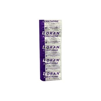 Loran Tablet  adalah obat untuk mengurangi gejala yang berhubungan reaksi alergi seperti peradangan pada mukosa hidung yang disebabkan karena adanya reaksi alergi (rhinitis alergi), biduran (urtikaria), dan gangguan kulit lainnya.
