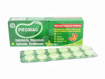 Promag tablet digunakan untuk mengatasi gejala akibat kelebihan asam lambung