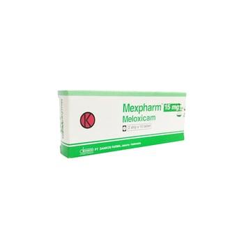Mexpharm tablet 15 mg berguna untuk terapi osteoarthritis eksaserbasi akut dan artritis reumatoid.