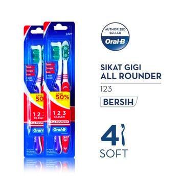 Oral-B Sikat Gigi All Rounder 123 Soft 2s - Paket isi 2 harga terbaik 19800