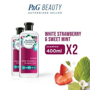 Herbal Essences Shampoo White Strawberry & Sweet Mint 400 ml - Paket isi 2 harga terbaik 199800