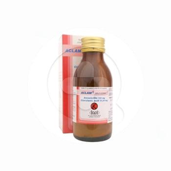 Aclam sirup kering digunakan untuk mengatasi infeksi saluran napas atas dan bawah, infeksi saluran kemih, infeksi kulit dan jaringan lunak serta infeksi lainnya.