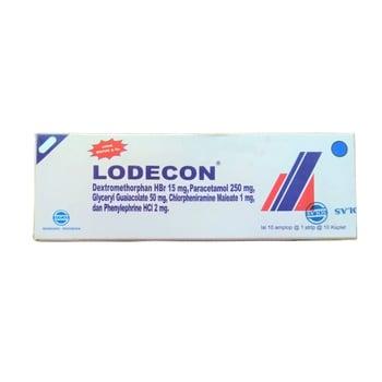 Lodecon kaplet digunakan untuk terapi gejala flu, batuk pilek, nyeri, demam dan alergi.