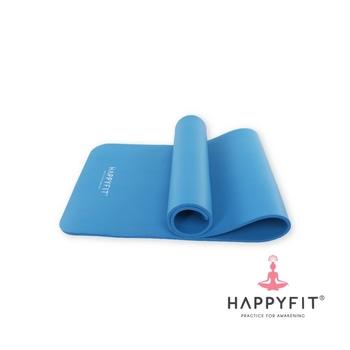Happyfit Yogamat NBR Polos 10 mm Blue + Strap harga terbaik 260000