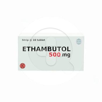 Ethambutol Tablet 500 mg (1 Strip @ 10 Tablet)