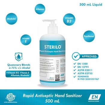Sterilo Rapid Antiseptic Hand Sanitizer 500 ml - Antiseptik Medis Cair harga terbaik
