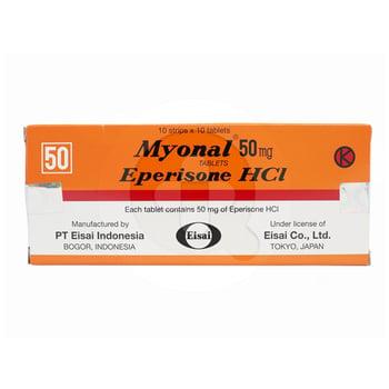 Myonal Tablet adalah obat untuk meringankan kondisi yang mengganggu fungsi sendi, saraf, dan otot