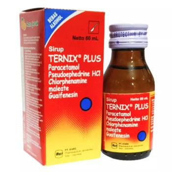 Ternix plus sirup 60 ml adalah obat yang berguna untuk meringankan gejala flu..