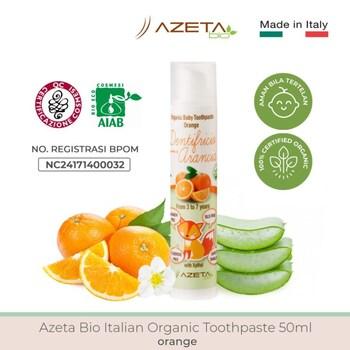 Azeta Bio Italian Organic Toothpaste/Pasta Gigi Bayi 50 ml - Orange harga terbaik 135000