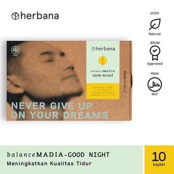 Herbana Balance Madia Good Night - 10 Kaplet harga terbaik 50500
