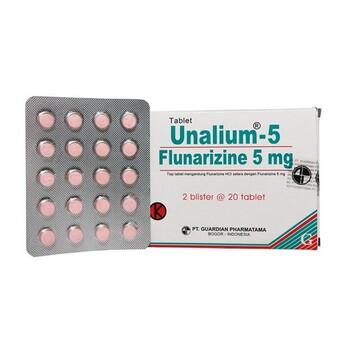 Unalium tablet adalah obat untuk mengatasi migrain dan gangguan sirkulasi darah perifer dan serebral