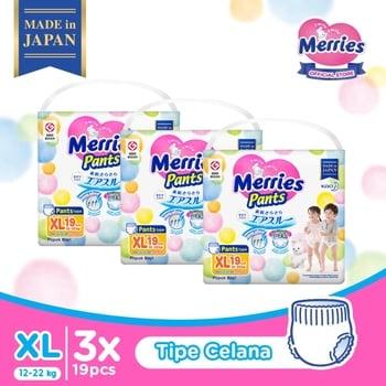 Merries Baby Diapers Pants XL 19S - Triple Pack harga terbaik 352200