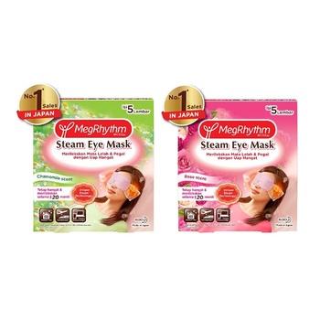 MegRhythm Steam Eye Mask Rose + Chamomile - 5 Pcs harga terbaik 149200
