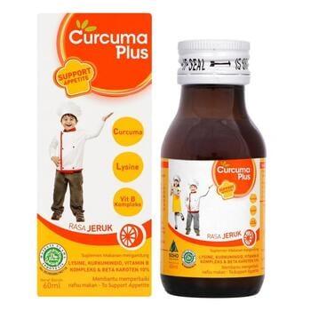 Curcuma Plus Lysine 60 ml harga terbaik 13000
