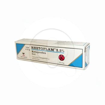 Rhetoflam 2,5% gel 20% obat untuk meredakan nyeri dan inflamasi lokal yang berhubungan dengan rematik, gangguan otot, benturan atau memar pada jaringan lunak.