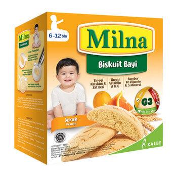biskuit bayi 6 bulan, Milna Baby Biscuit Jeruk 130 g