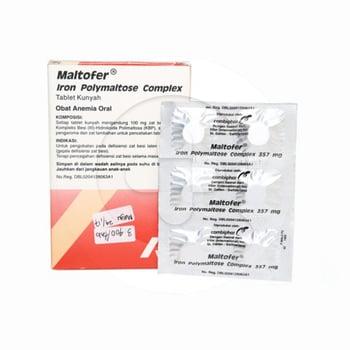 Maltofer tablet kunyah digunakan sebagai terapi penunjang untuk mengatasi anemia