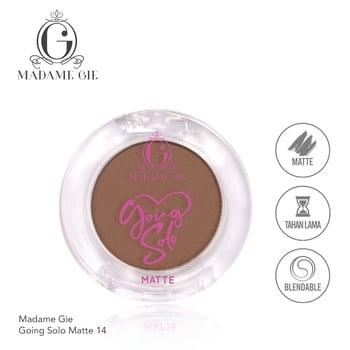 Madame Gie Going Solo Matte Pressed Eyeshadow 14 Rust harga terbaik 16000