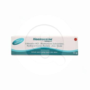 Haemocaine salep adalah obat untuk mengatasi nyeri akibat wasir