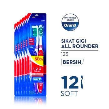 Oral-B Sikat Gigi All Rounder 123 Soft 2s Paket Isi 6 harga terbaik 59400